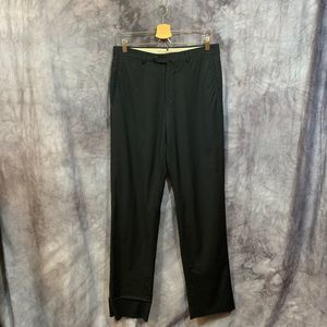 Ermenegildo Zegna 100% Wool Black Dress Pants 32